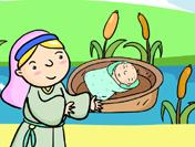 바구니 속의 아기
